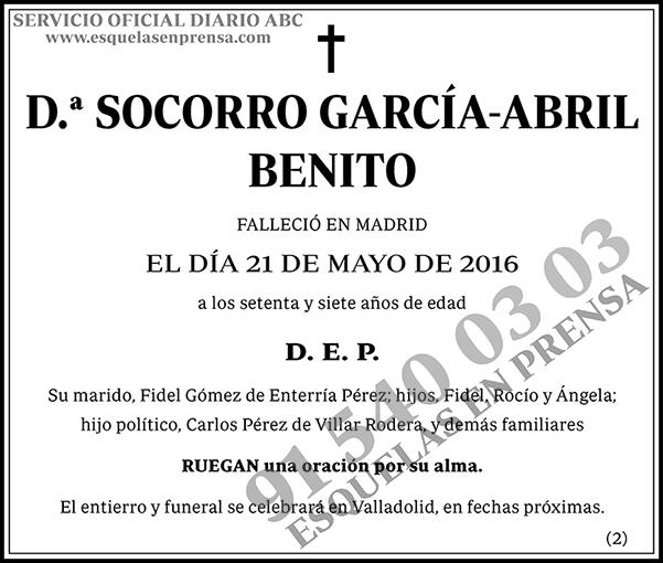 Socorro García-Abril Benito